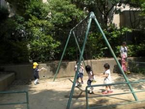 梅雨の合間の公園
